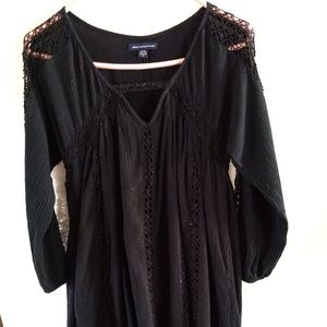 American Eagle Outfitters Black cotton/rayon dress
